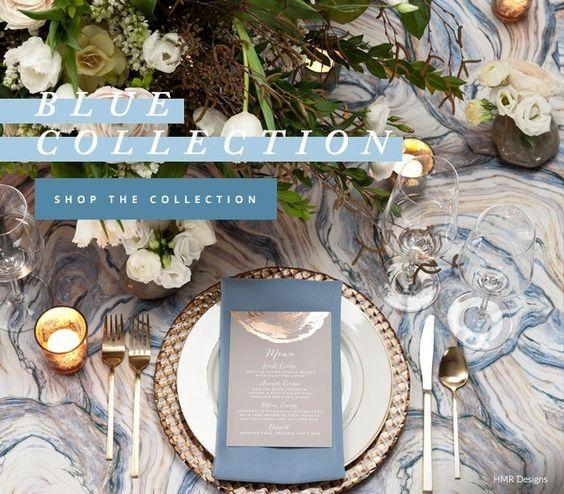 Blue Marbling/Agate linen from BBJ