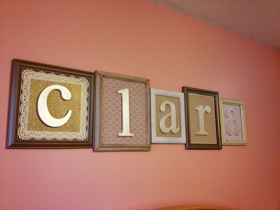 Framed letters to spell out child's name - cute, eclectic #nursery #decor