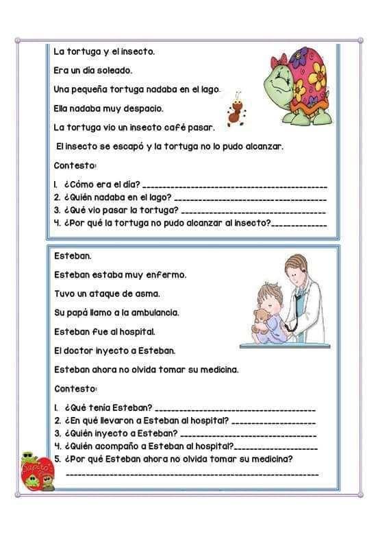 Lecturas Comprensivas Cortas Para Niños 11 Spanish Reading Comprehension Spanish Teaching Resources Reading Comprehension