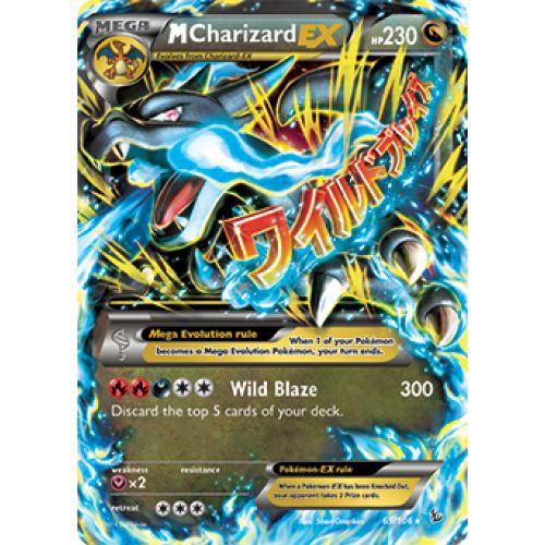 A picture of mega charizard ex mega charizard pokemon card ex carte jouer et - Carte pokemon mega evolution ex ...