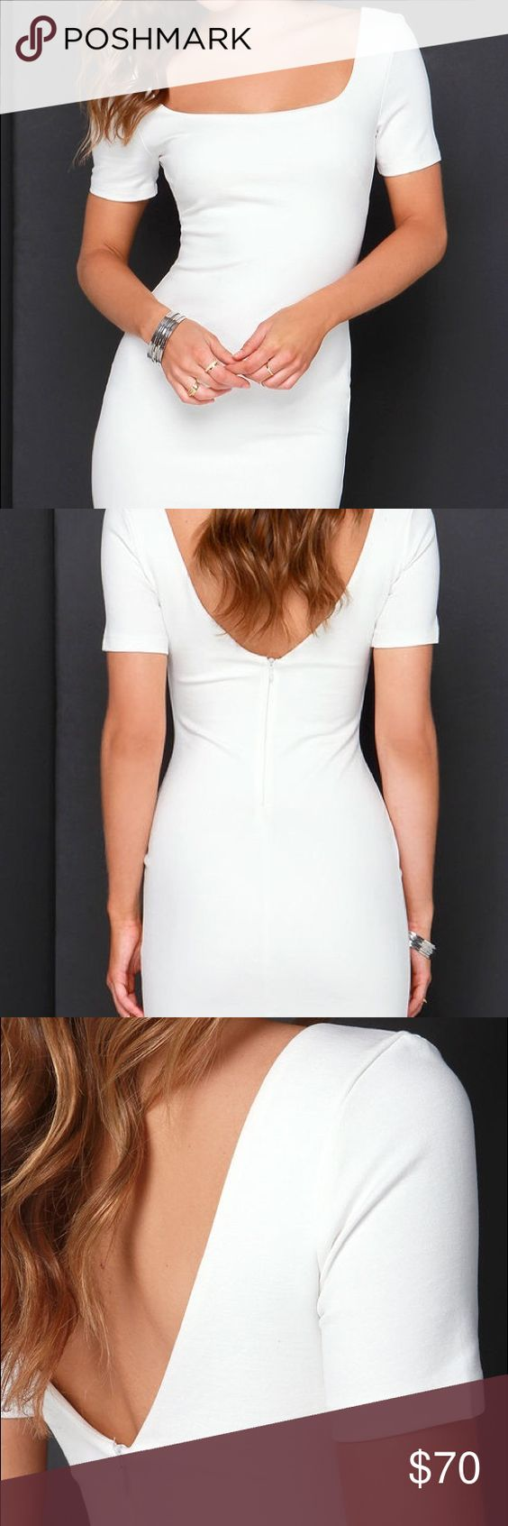 LuLu*s bodycon dress • white bodycon dress • brand new • snug fit, super sexy. Lulu's Dresses Mini