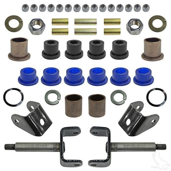 Club Car DS Golf Cart Front End Repair / Rebuild Kit - WHEELZ Custom Carts &…