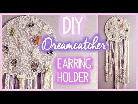 DIY Dreamcatcher Earring Holder! EASY