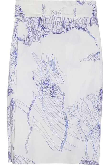 """cotton skirt by Clemens en August, """"Ahhh! So this is how to make an accident with a biro and a white skirt work!"""""""
