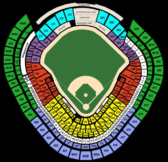 Yankee Stadium Seating Chart With Rows