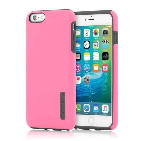 Incipio iPhone 6 Plus / 6s Plus Dual PRO Case - Highlighter Pink/Charcoal