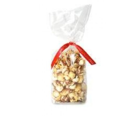 Chocolate Popcorn :  Toffee popcorn liberally drizzled with our milk chocolate, so delicious it's hard to put down.