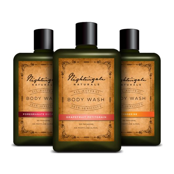 Nightingale Naturals Packaging by Edward Sheehan, via Behance