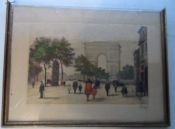 Available now from Orphaned Treasures ~ Jules Leray ORIGINAL ETCHING SIGNED  Paris  Arc de Coriomphe. $60.99, via Etsy.