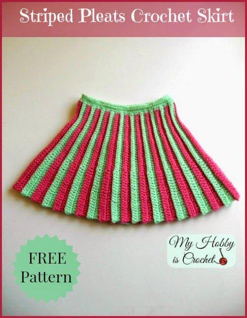 my hobby is crochet pleated mini crochet skirt toddler