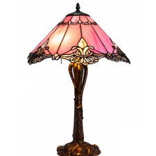 "Crystal Lace Tiffany 24.5"" Table Lamp"