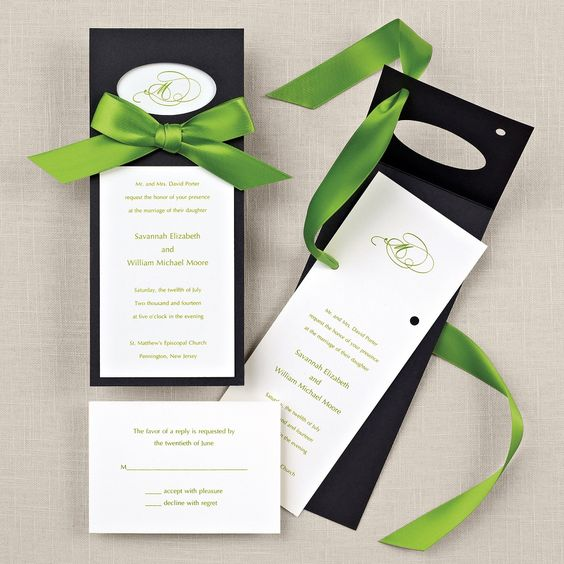 Layers of Love Wedding Invitation (available in other colors) | #exclusivelyweddings | #limegreenwedding