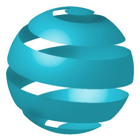 Wrap a Ribbon Around a Sphere, Using 3D Revolve