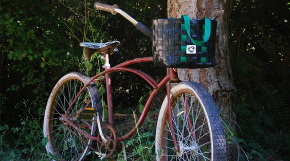 The AgBag Project up-cycles used irrigation tubing (drip tape) collected from farms to create a variety of bags. The styles range from messenger bags and backpacks, to handle bar baskets. Mostly a one man show, everything is hand built on Orcas Island, WA.     We are excited to have them as a part of the second annual Pedaler's Fair on April 20-21, 2013!