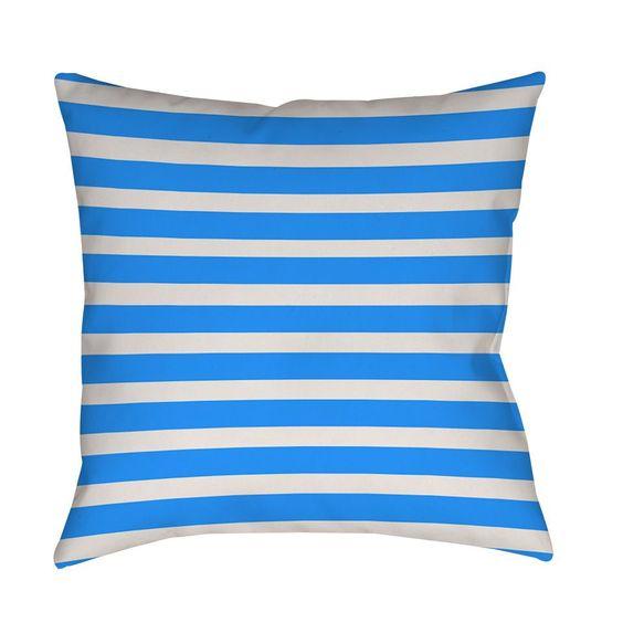 Thumbprintz Bright s Robin Egg Indoor/ Outdoor Throw Pillow