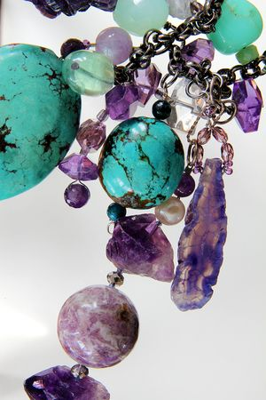 #turquoise #amethyst #jewelry #beads #bead