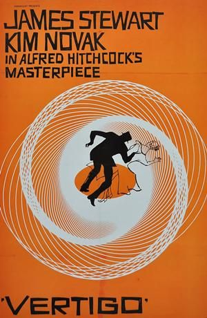 Vertigo - Movie Posters from the 1960s.  This movie replaced Citizen Kane as the best movie of all time in the 2012 Sight & Sound Critcs' poll.
