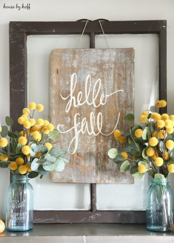 Hello Fall! DIY Sign for Fall via House by Hoff