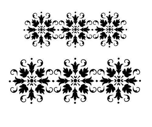 Retro Border Stencils : Details about vintage border stencil craft fabric glass