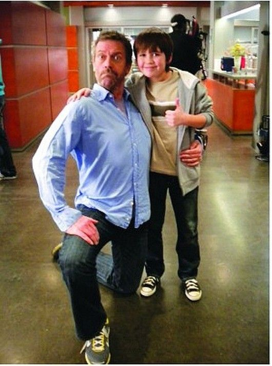 Hugh Laurie on set of House with a guest star (if anyone knows his name, please tell me and I'll put it in)