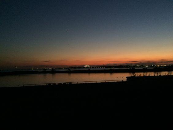 葛西臨海公園 昼と夜の境目♪