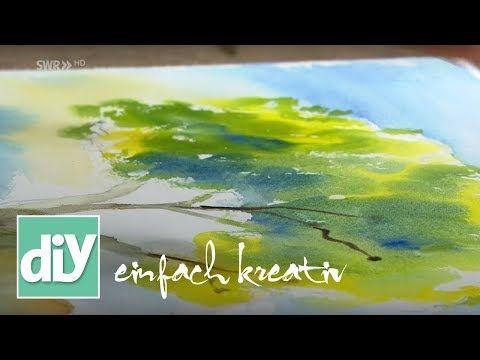 Malen Mit Aquarell Diy Einfach Kreativ Youtube Aquarell Kreativ Malen