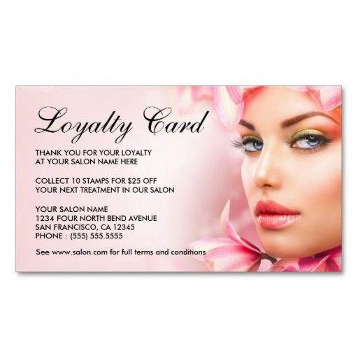 Beauty Salon Loyalty Cards Template Double Sided Standard Business Cards Pack Of 100 Babyshampooandbakingsoda Loyalty Card Template Loyalty Card Salons