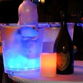 Balde de Gelo com Luz Led - A Luz Acompanha o Som