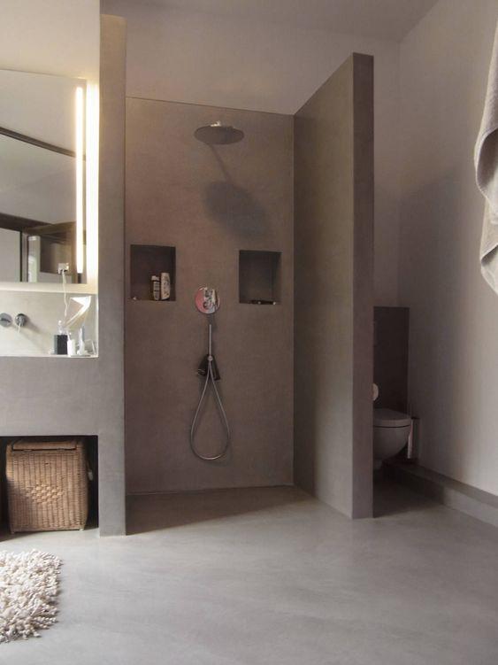 Ablage Dusche Glas : erkunde badezimmer dusche dusche beton und noch mehr k?hler