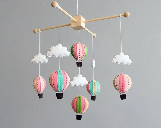 Colorful And Playful Diy Baby Mobiles Ideas Diy Hot Air Balloons Diy Baby Stuff Diy Baby Mobile