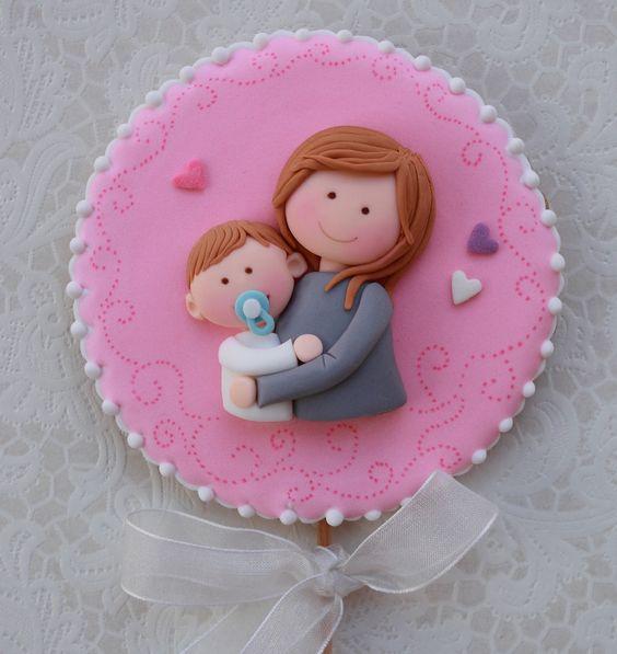 Galletas decoradas para el día de la Madre, un buen regalo para mamá: idea de cuki-chic #Regalo #Galletas #DiaDeLaMadre