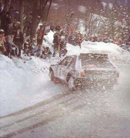 ra Markku Alén - Illka Kivimaki-54º Rally de Monte-Carlo 1986. Lancia Delta S4. Retirado por árbol de levas.