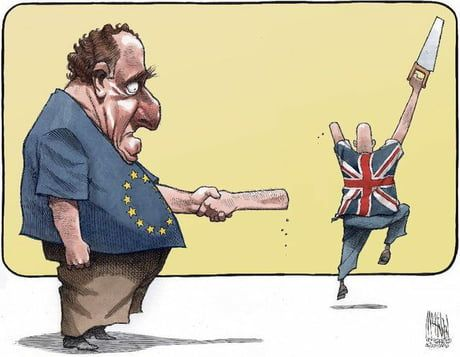 The best Brexit cartoon I have seen so far - 9GAG