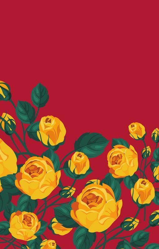 Cartoon Roses Wallpaper Art