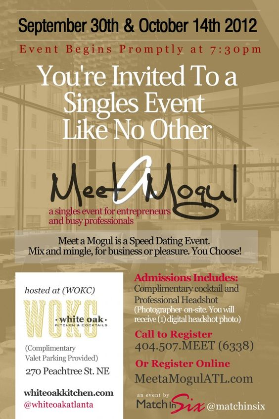 Atlanta Speed Dating Meet a Mogul