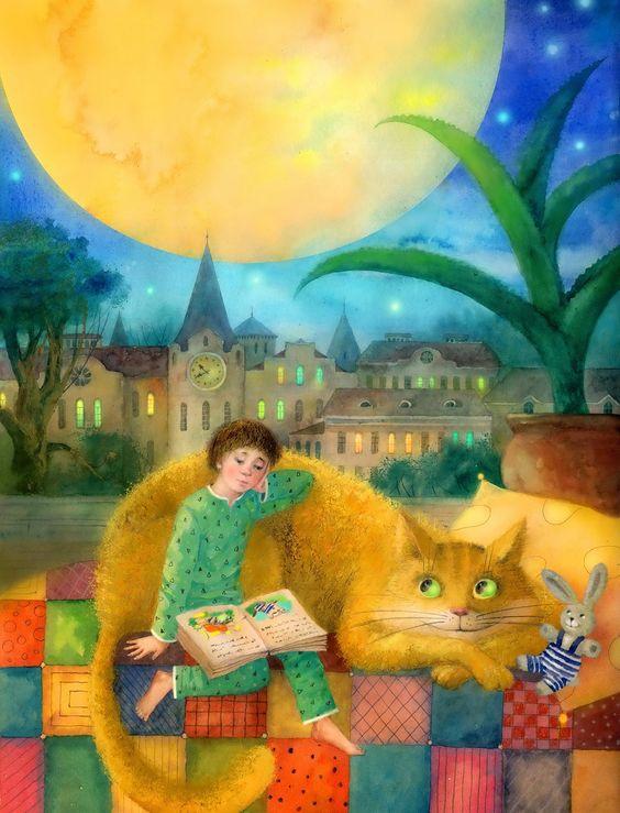 Érase una vez… cada noche se repiten estas palabras que nos sumergen al mundo de los cuentos y de los sueños (ilustración de Masha Dudar):