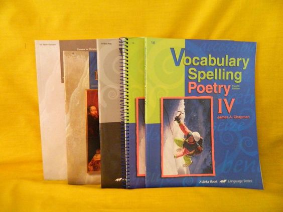 ABeka Spelling Vocabulary IV Student & Key w. World Literature Homeschool School #TextbookBundleKit