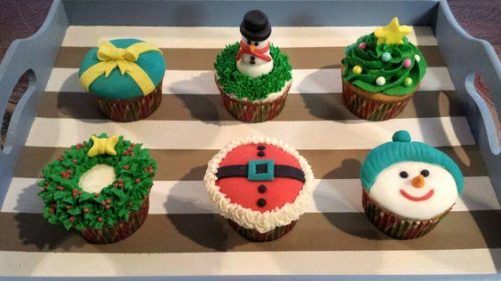 My Christmas cupcakes