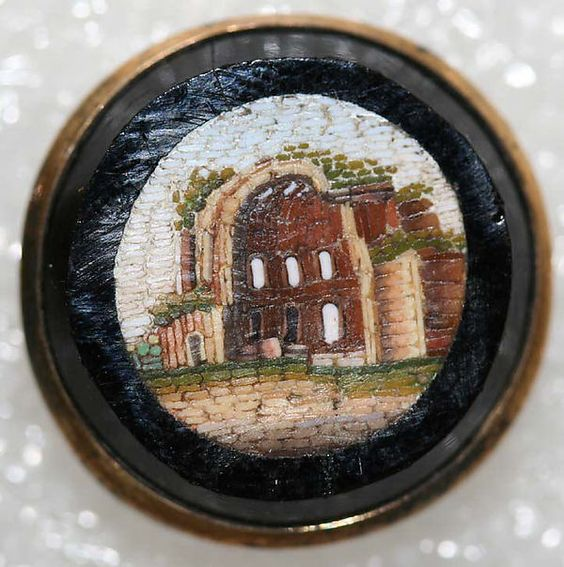 1860 Italian Mosaic Buttons - From the Hanna S. Kohn Collection, 1951