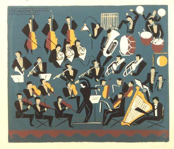 Miriam Ibling (1895-1985)  Symphony, 1941  serigraph