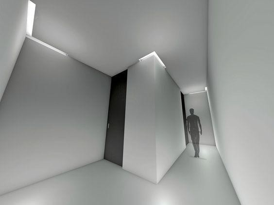 Luminária de embutir LED de alumínio com luz indireta BLANK!   Luminária de embutir - LUCIFERO'S