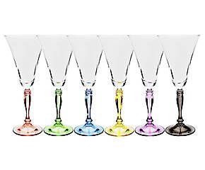 Conjunto de taças para vinho color bohemia - 230ml