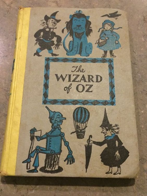 Vintage 1944 The Wizard Of Oz Hardcover L.Frank Baum Folklore Children's Book Sold: