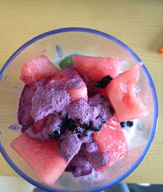Purple potato powder and water melon   Food   Pinterest   Purple ...