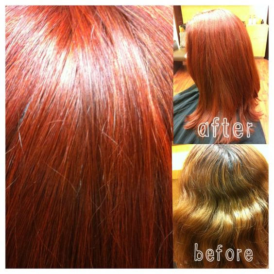 Red hair   before and after