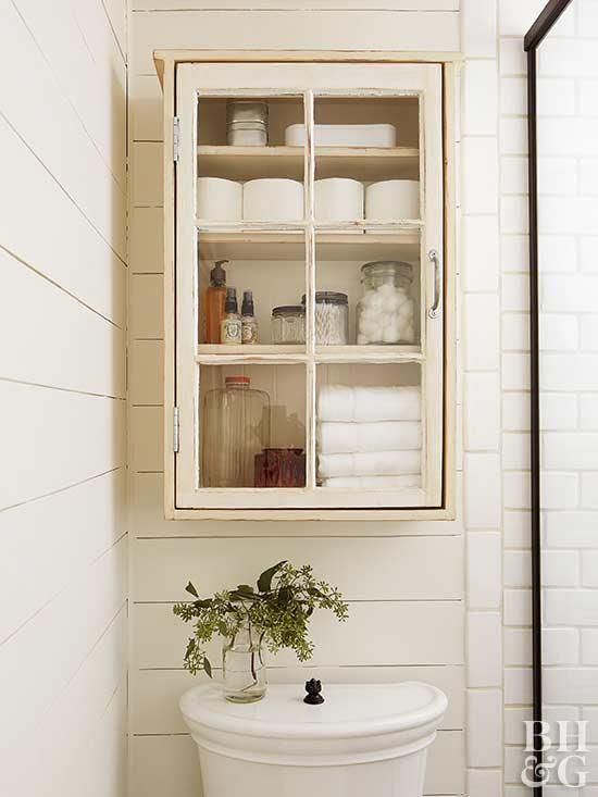 This Farmhouse Inspired Cabinet Holds Lots Of Necessities And