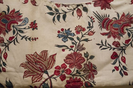 Detail of chintz kraplap or onderst.