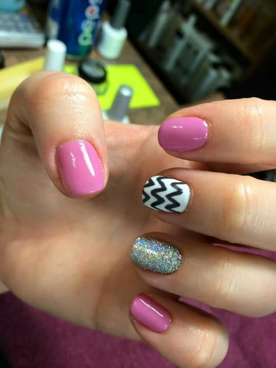 Pink with chevron