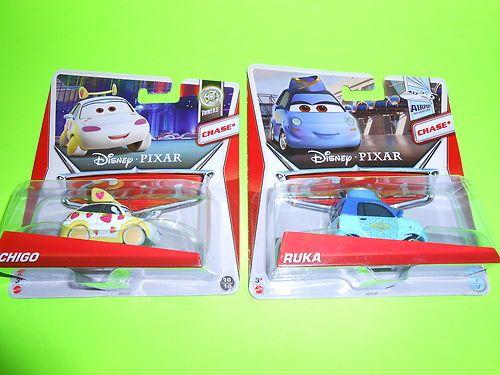 LOT OF (2) NEW 2013 DISNEY PIXAR CARS RUKA & ICHIGO CHASE CARS
