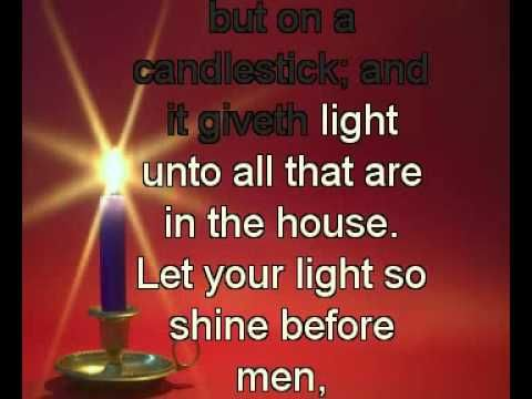 Matthew 514 16 english standard version esv 14 you are for Light a lamp and put it under a basket